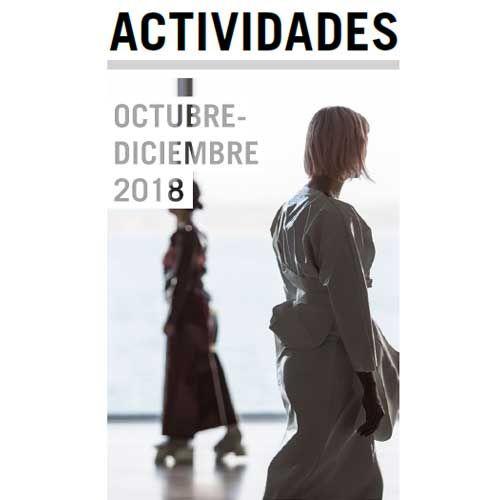 Folleto de actividades de octubre a diciembre de 2018