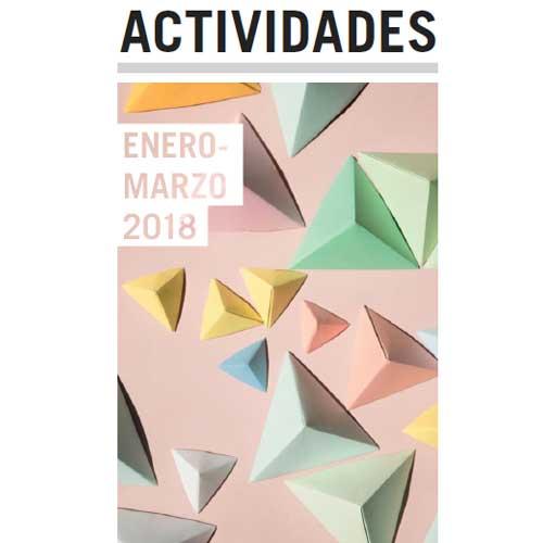 Folleto de actividades de enero a marzo de 2018